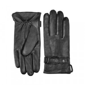 Кожаные перчатки для сенсорных экранов Xiaomi Qimian (XL) (Мужские) (Черные)