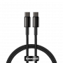 Кабель Baseus Tungsten Gold Fast Charging Data Cable Type-C to Type-C 100W 1m Black (CATWJ-01)