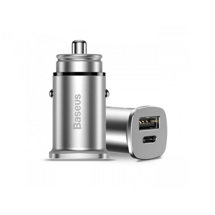Автомобильная зарядка Baseus Car Charger PPS 30W (USB-A + Type-C) (CCALL-AS0S) (Серый)