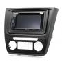 CARAV 11-495 (2 DIN монтажная рамка для а/м SKODA Yeti 2009-2017 С климат-контролем)