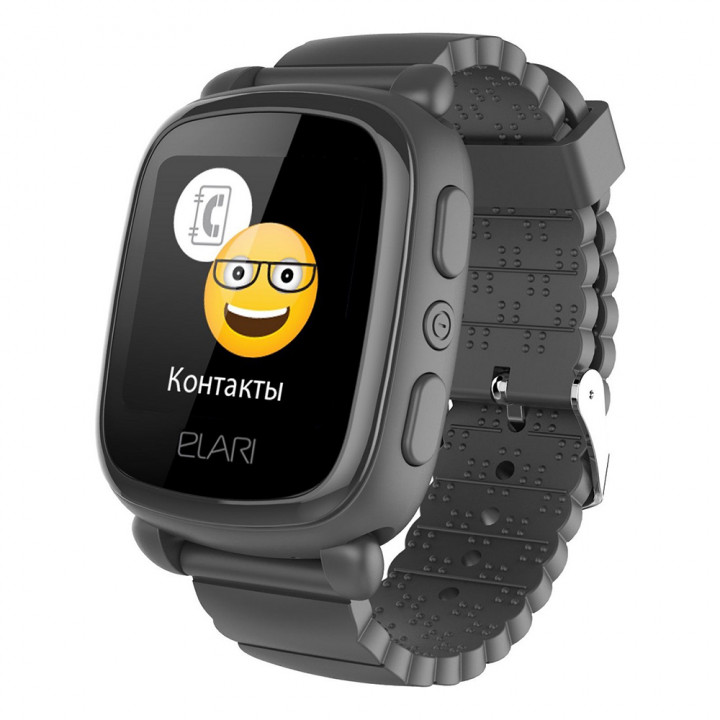 Детские часы с GPS Elari KidPhone 2 (Черный)
