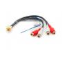 CARAV 15-201 (Кабель для подключения штатной магнитолы к внешнему усилителю / Mini-ISO (Y) - 4 x RCA line out)