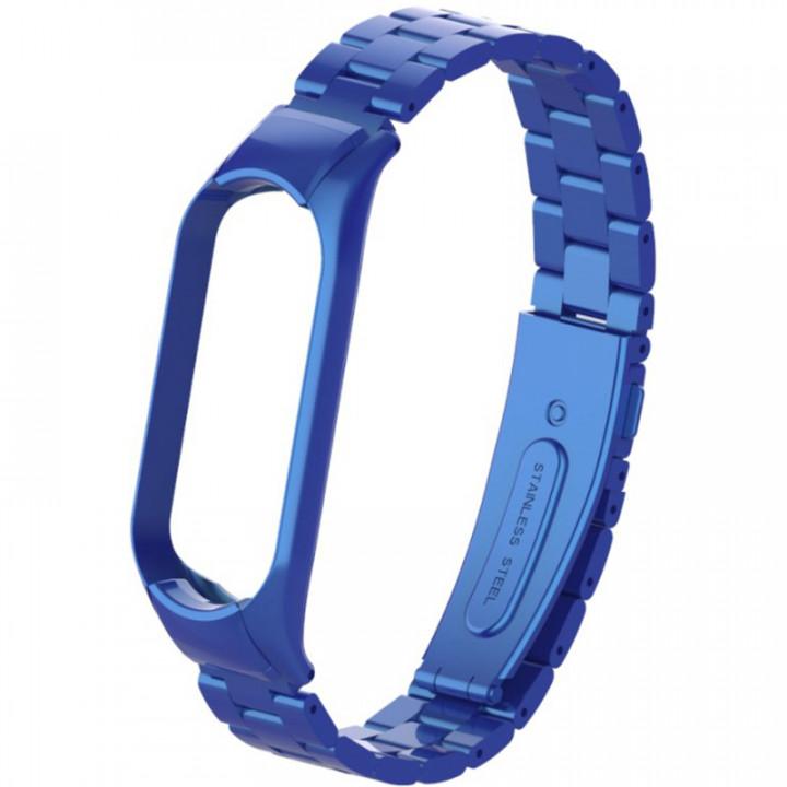 Металлический ремешок для Xiaomi Mi Band 5 (Синий)