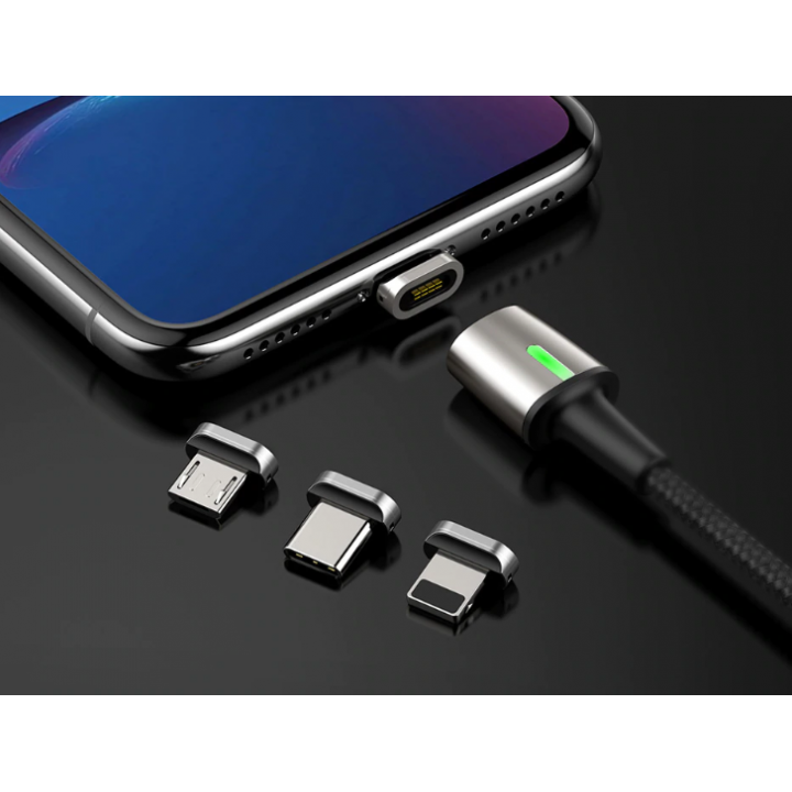 Кабель магнитный Baseus Zinc Magnetic Cable Lightning 1m (Черный) (CALXC-A01)