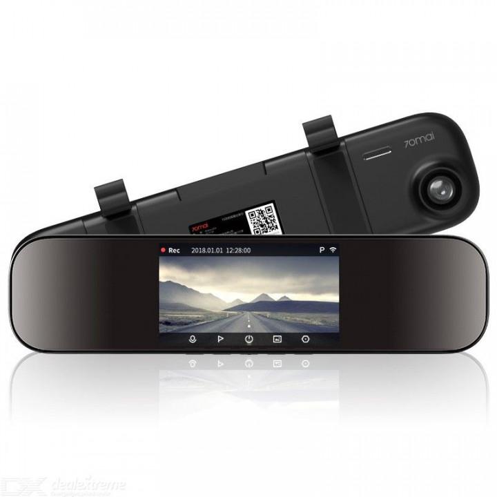 Умное зеркало видеорегистратор Xiaomi 70 Mai (Midrive D04) (черный)