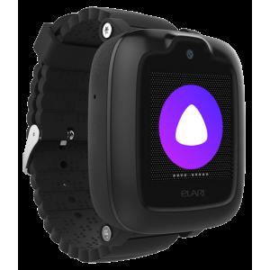 Детские часы с GPS Elari KidPhone 3G голосовой помощник Алиса (Черные)