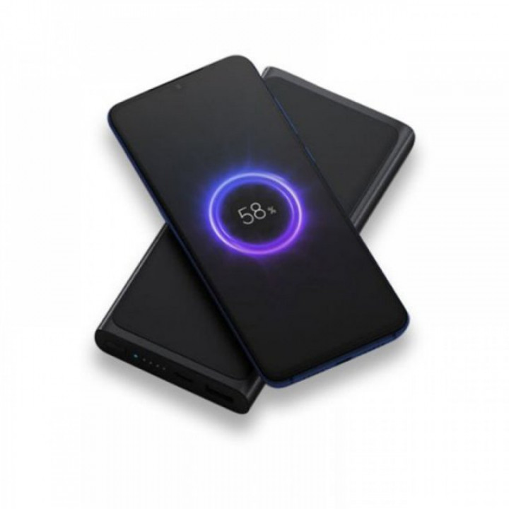 Внешний аккумулятор с беспроводной зарядкой Xiaomi Power Bank 3 (PLM11ZM) (10000mAh) (Черный)