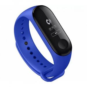 Силиконовый ремешок Xiaomi Mi Band 4/ Mi Band 3 (Синий)