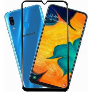 Защитное стекло Samsung Galaxy A30 (Черное)