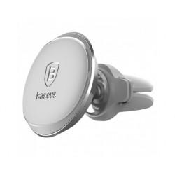 Автомобильный магнитный держатель Baseus Magnetic Air Vent Car Mount Holder Cable Clip Серый
