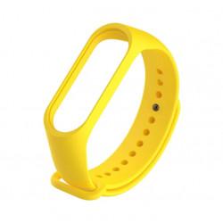 Силиконовый ремешок Xiaomi Mi Band 4/ Mi Band 3 (Желтый)