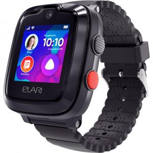 Детские часы с GPS Elari KidPhone 4G (Черный)
