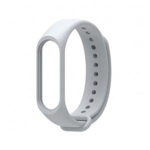 Силиконовый ремешок Xiaomi Mi Band 4/ Mi Band 3 (Серый)