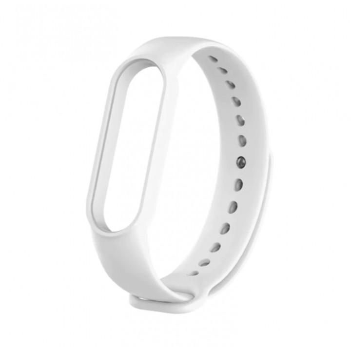 Силиконовый ремешок Xiaomi Mi Band 5 (белый)