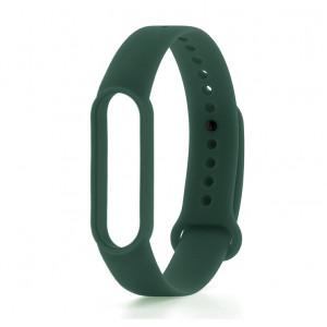 Силиконовый ремешок Xiaomi Mi Band 5 (темно-зеленый)