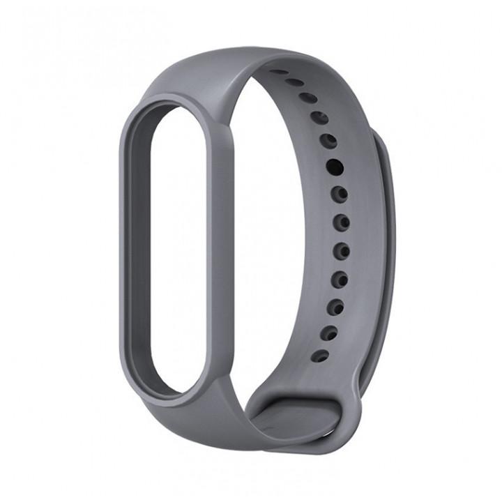 Силиконовый ремешок Xiaomi Mi Band 5/ Mi Band 6 (серый)