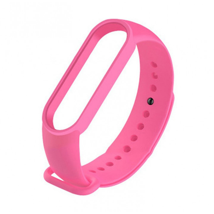 Силиконовый ремешок Xiaomi Mi Band 5 (розовый)