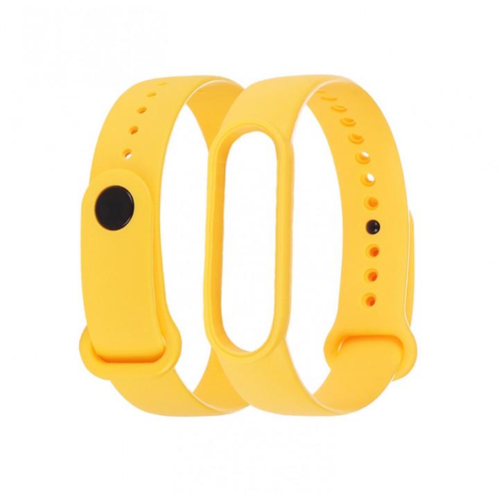 Силиконовый ремешок Xiaomi Mi Band 5/ Mi Band 6 (желтый)