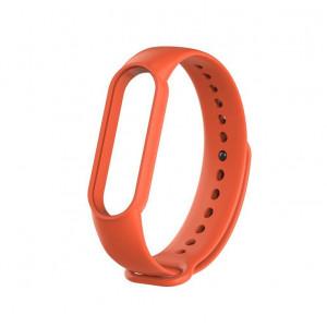 Силиконовый ремешок Xiaomi Mi Band 5 (оранжевый)