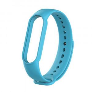 Силиконовый ремешок Xiaomi Mi Band 5 (голубой)