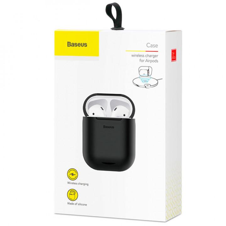Чехол с беспроводной зарядкой для Apple AirPods Baseus Case Wireless Charger (WIAPPOD-01) (Черный)