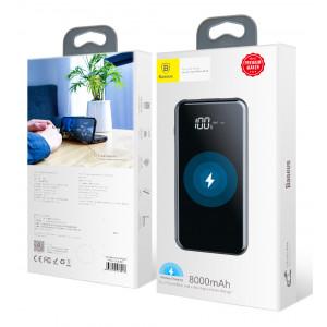 Внешний аккумулятор с беспроводной зарядкой Baseus Power Bank 8000mAh Wireless Charger (Черный)