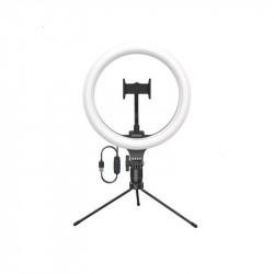 Трипод-штатив с подсветкой для смартфона Baseus Live Stream Holder-table Stand (10-inch Light Ring) Black (CRZB10-A01)