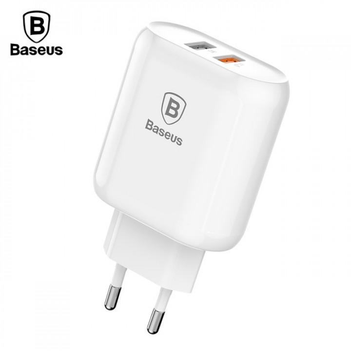Зарядное устройство Baseus Bojure Series Dual-USB Quick Charger (EU) (Белый)