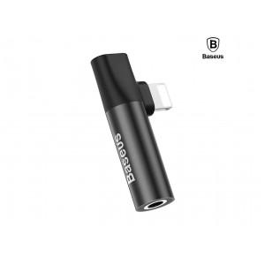 Аудио переходник (конвертер) Baseus iP to iP & 3.5mm audio jack (L43) (CALL43-01)