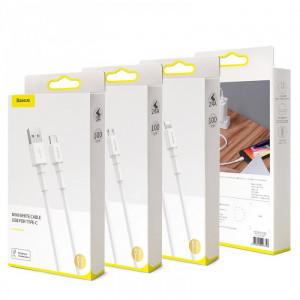 Кабель Baseus Mini White Cable USB For Type-C (CATSW-02) (1m)
