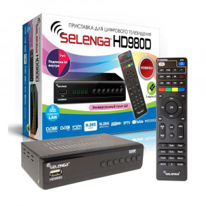 Цифровая приставка DVB-T2 SELENGA HD980D