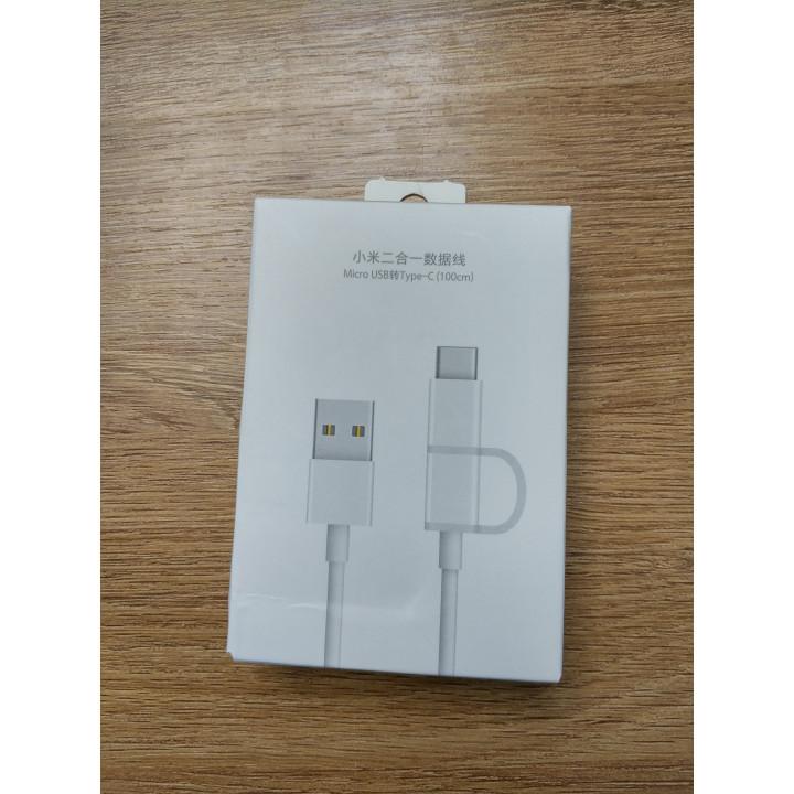 Кабель Xiaomi Type-C & Mirco USB (30см)