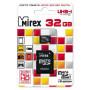 Карта памяти MicroSD  32GB  Mirex Class 10  UHS-I + SD адаптер