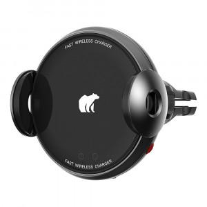 Автомобильный держатель с функцией беспроводной зарядки Xiaomi ShunZao 15W Electric Wireless Quick Car Charger