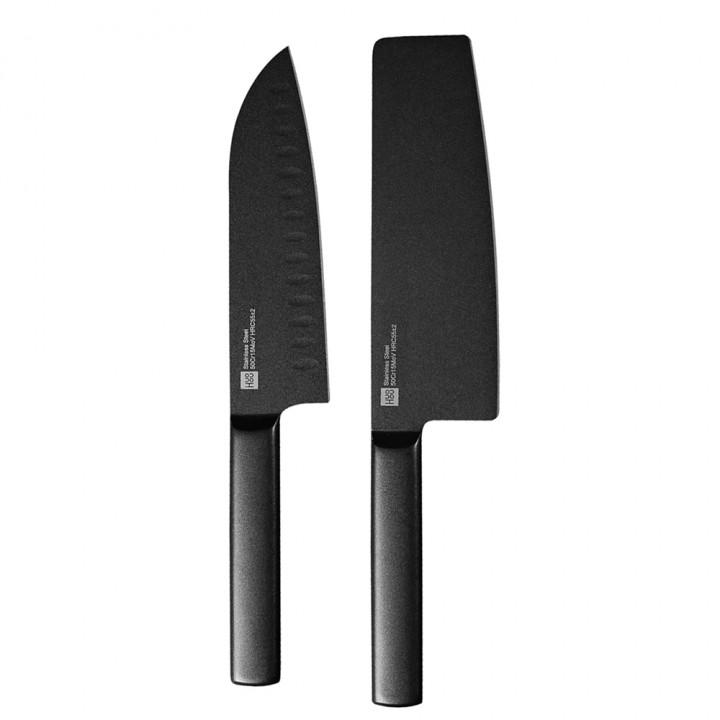 Набор ножей Xiaomi Huo Hou Black Heat Knife Set (HU0015) (2 шт.)