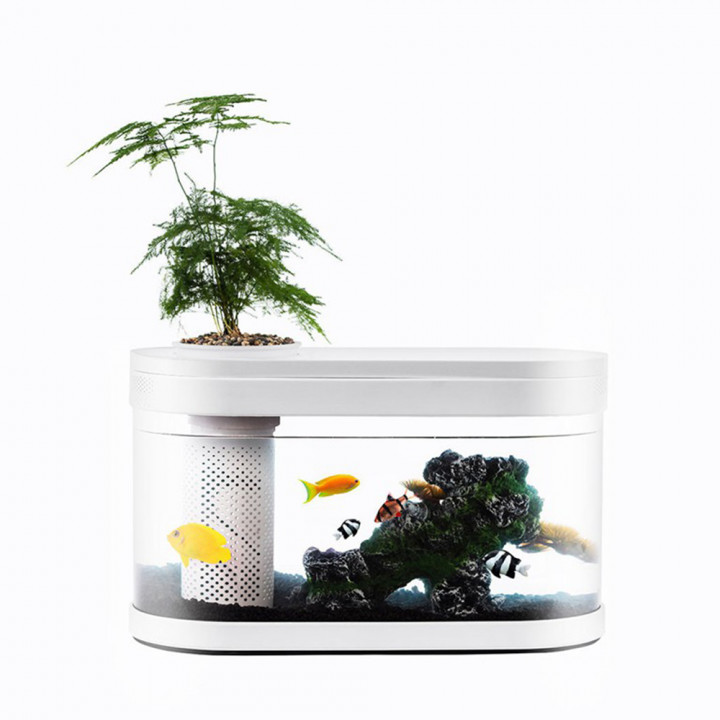 Аквариум Xiaomi Descriptive Geometry Amphibious Ecological View Fish Tank (HF-JHYG001)