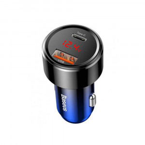Автомобильная зарядка Baseus Dual USB Quick Charging Car Charger (Type-C) (CCMLC20C-03) (Синий)
