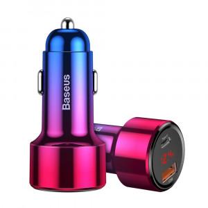 Автомобильная зарядка Baseus Dual USB Quick Charging Car Charger (Type-C) (CCMLC20C-09) (Красный)
