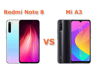 Сравнение смартфонов Xiaomi Mi A3 и Redmi Note 8