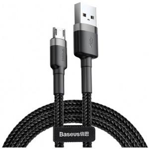 Кабель Baseus Cafule Cable Micro-USB 1.5A 2m (CAMKLF-CG1) (Черный)
