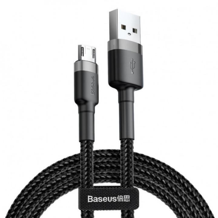 Кабель Baseus Cafule Cable Lightning 2.4A 50cm (CALKLF-AG1) (Черный)