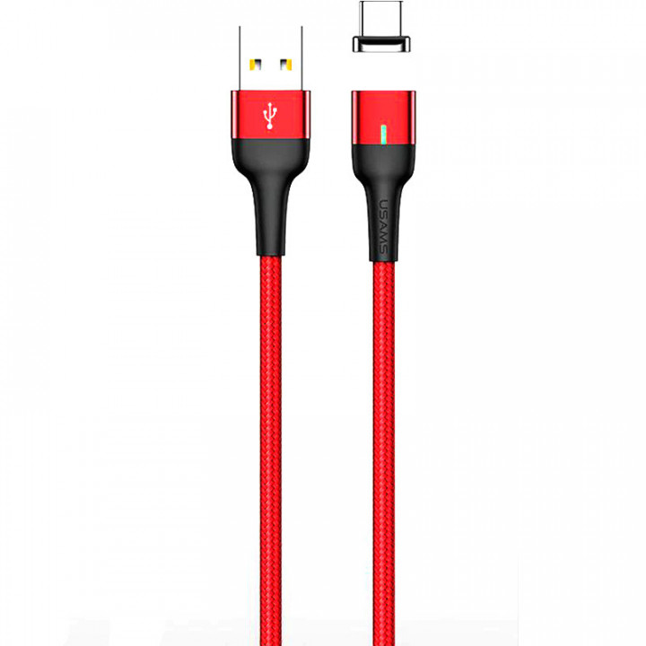 Кабель магнитный Usams Lightning U28 1m (SJ326USB02) (Красный)