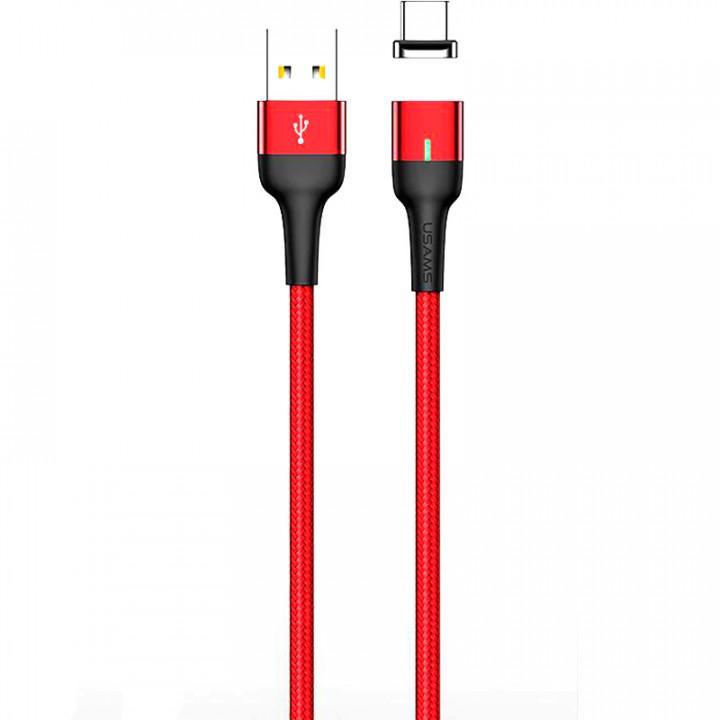 Кабель магнитный Usams Micro-USB U28 1m (SJ328USB02) (Красный)