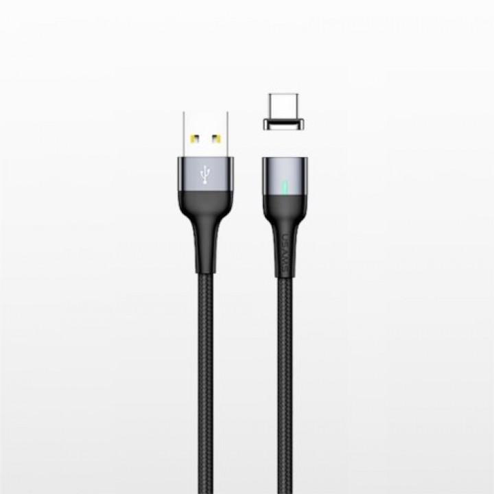 Кабель магнитный Usams Micro-USB U28 1m (SJ328USB01) (Темно-Серый)