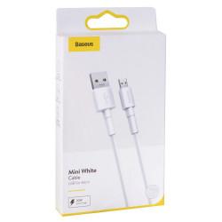 Кабель Baseus Mini White Cable USB For Micro-USB (20w) (CAMSW-D02) (1м)