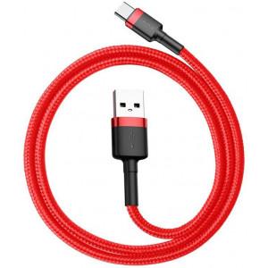 Кабель Baseus Cafule Cable Type-C 3A 50cm (CATKLF-A09) (Красный)