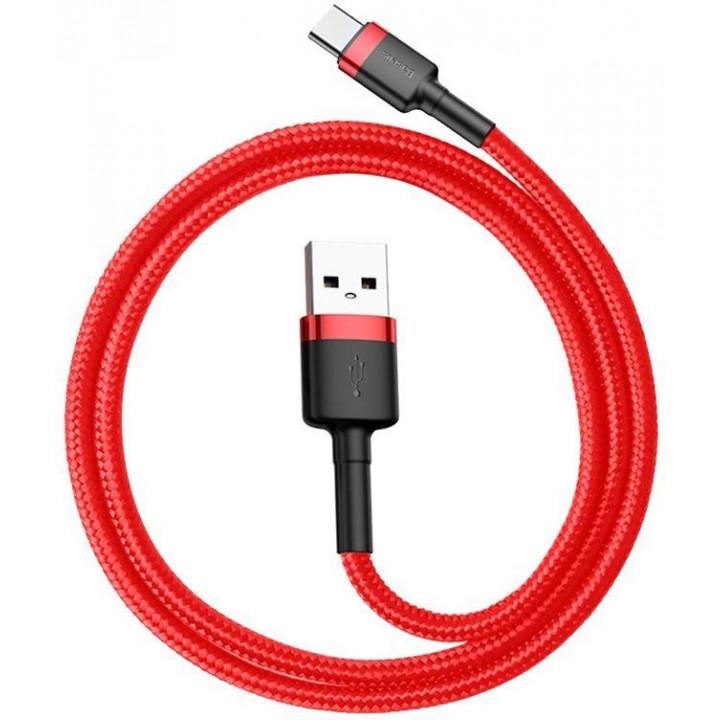Кабель Baseus Cafule Cable Type-C 2A 2m (CATKLF-C09) (Красный)