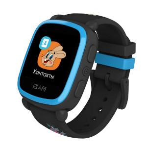 Детские часы с GPS Elari KidPhone «Ну, погоди!» (Черный)