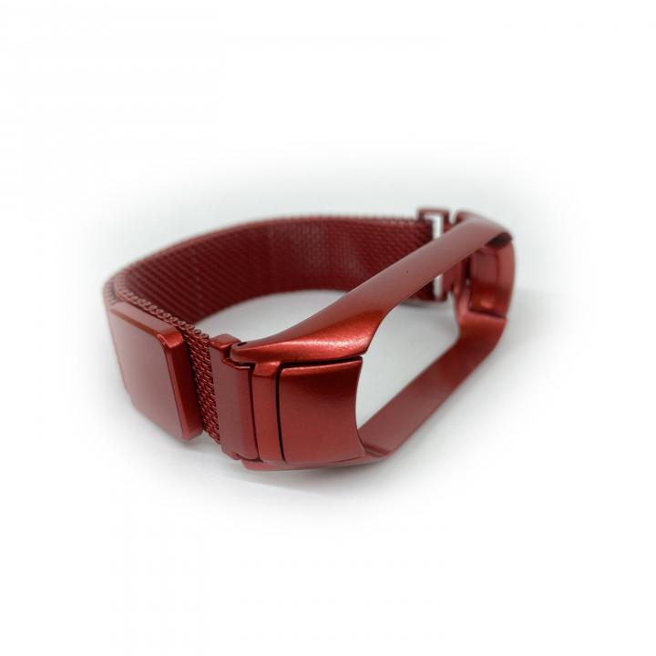 Ремешок миланская петля для Xiaomi Mi Band 5/ Mi Band 6 (Красный)