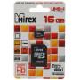 Карта памяти MicroSD  16GB  Mirex Class 10 UHS-I + SD адаптер